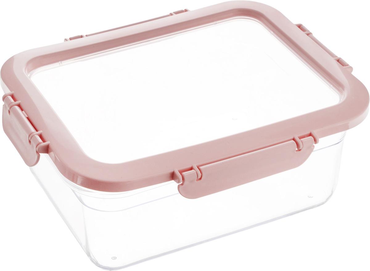 Контейнер для продуктов Herevin, цвет: прозрачный, розовый, 2,2 лVT-1520(SR)Контейнер для продуктов Herevin изготовлен из качественного пищевого пластика без содержания BPA. Крышка с 4 защелками плотно и герметично закрывается, поэтому продукты дольше остаются свежими. Прозрачные стенки позволяют видеть содержимое. Такой контейнер подойдет для использования дома, его можно взять с собой на работу, учебу, в поездку. Можно использовать в микроволновой печи без крышки. Нельзя мыть в посудомоечной машине.