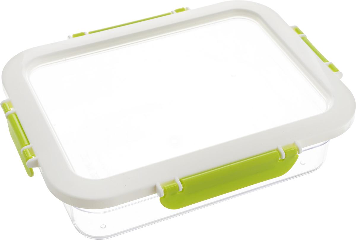 Контейнер для продуктов Herevin, цвет: прозрачный, белый, зеленый, 1,3 л161421-002Контейнер для продуктов Herevin изготовлен из качественного пищевого пластика без содержания BPA. Крышка с 4 защелками плотно и герметично закрывается, поэтому продукты дольше остаются свежими. Прозрачные стенки позволяют видеть содержимое. Такой контейнер подойдет для использования дома, его можно взять с собой на работу, учебу, в поездку. Можно использовать в микроволновой печи без крышки. Нельзя мыть в посудомоечной машине.