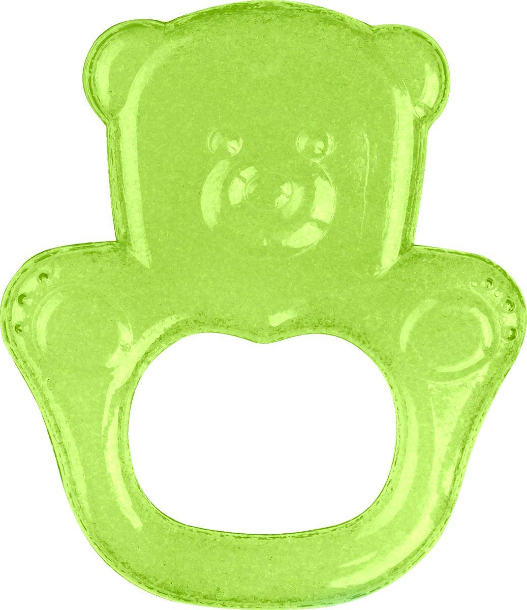 BabyOno Гелевый прорезыватель для зубов Мишка цвет зеленый