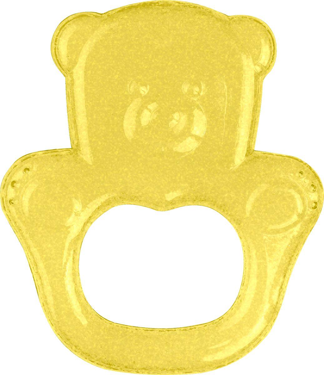 BabyOno Гелевый прорезыватель для зубов Мишка цвет желтый