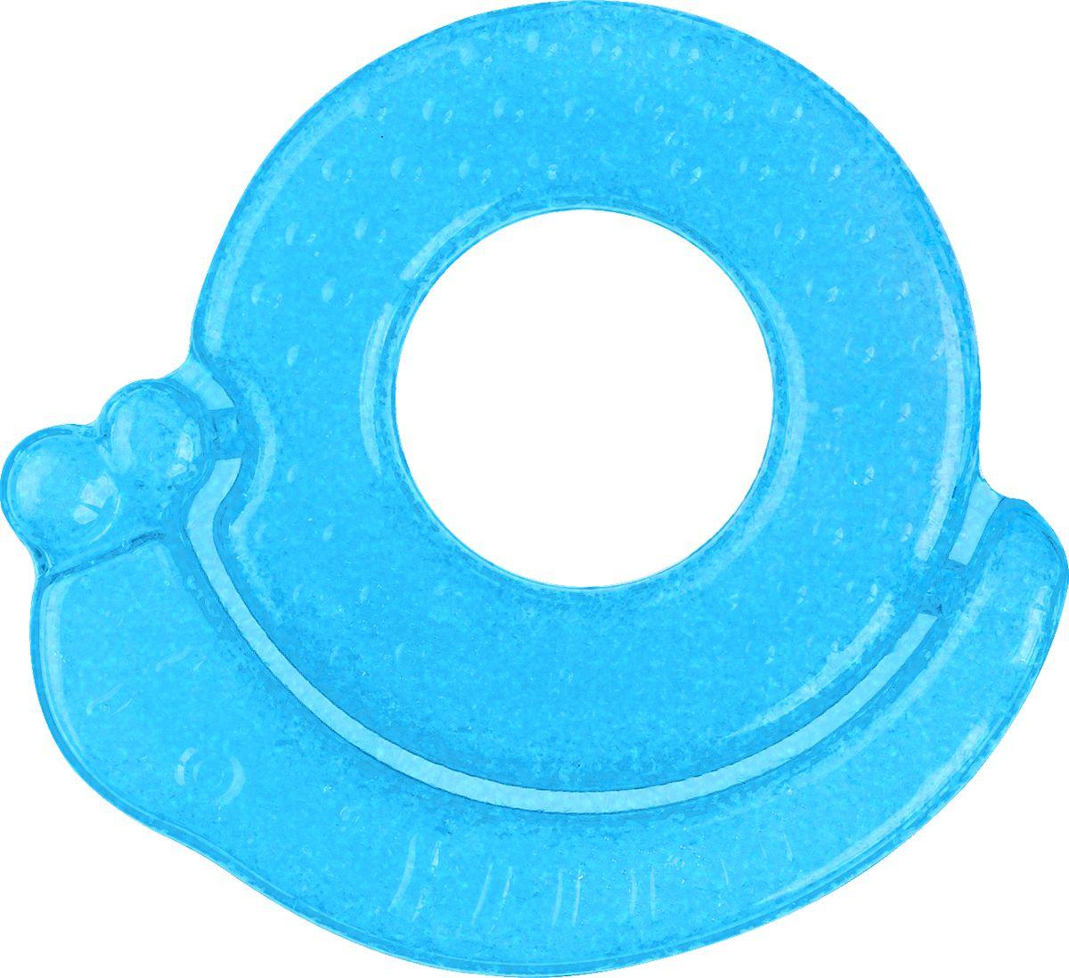 BabyOno Гелевый прорезыватель для зубов Улитка цвет голубой