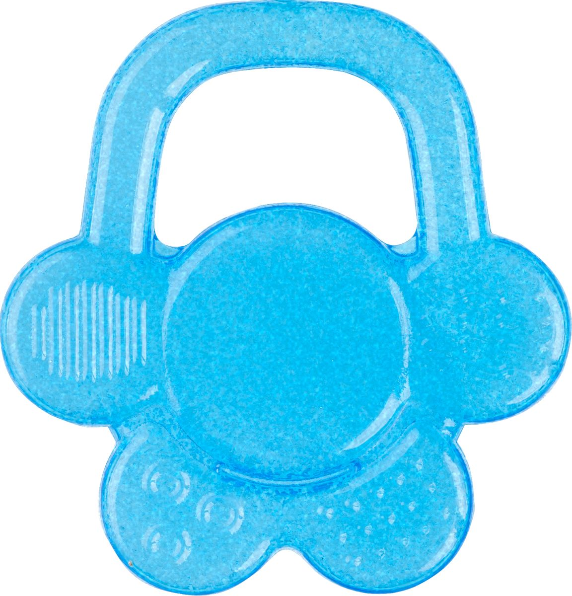 BabyOno Гелевый прорезыватель для зубов Цветок цвет голубой