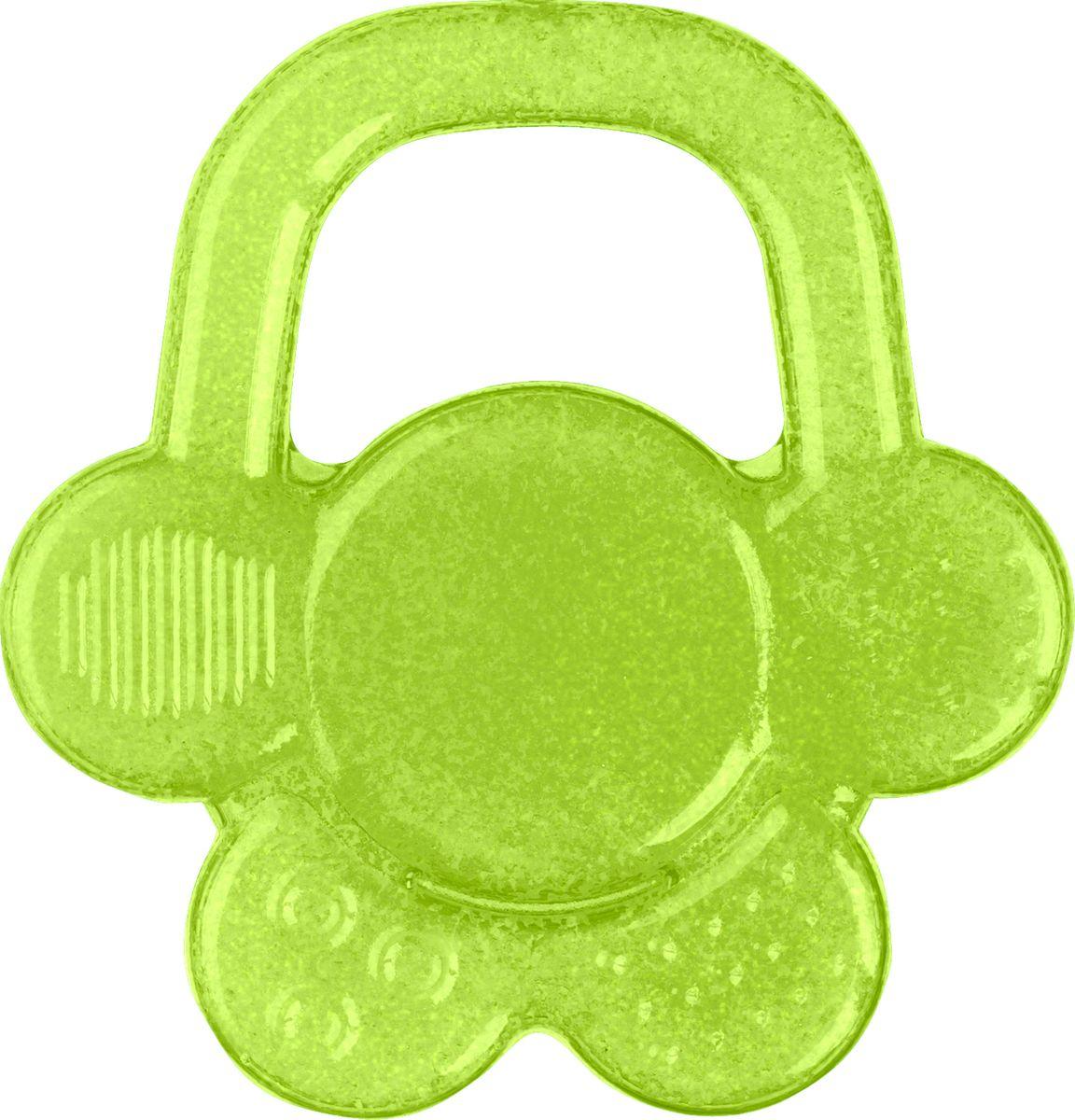 BabyOno Гелевый прорезыватель для зубов Цветок цвет зеленый