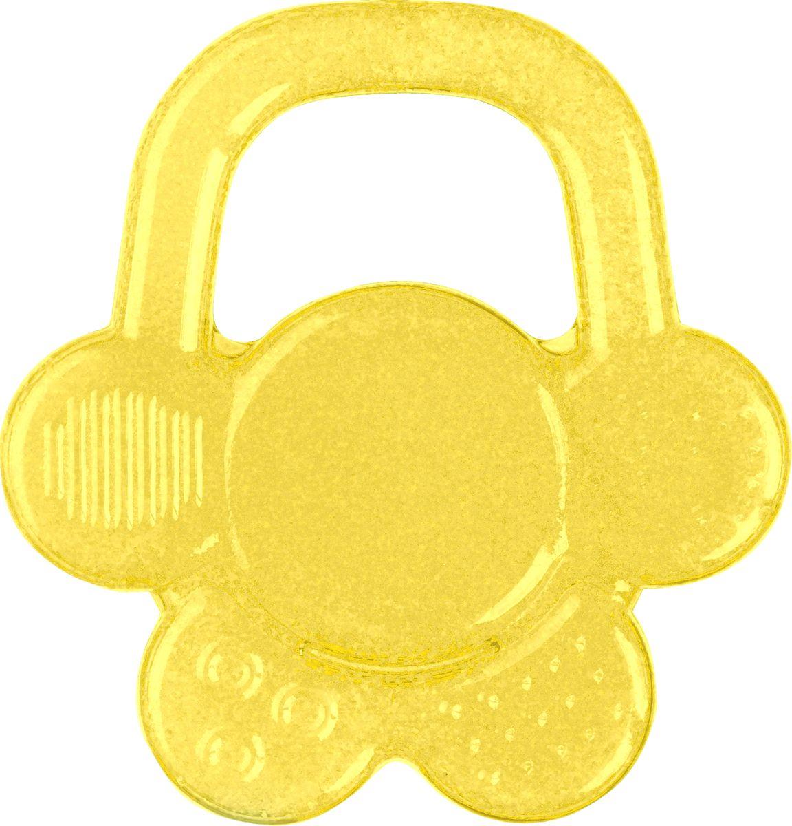 BabyOno Гелевый прорезыватель для зубов Цветок цвет желтый