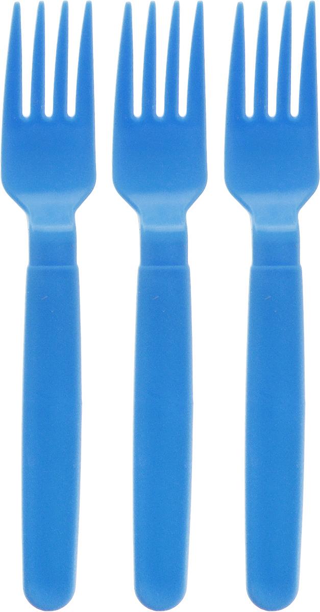 Вилка столовая Gotoff, цвет: голубой, 3 шт54 009312Столовые вилки Gotoff выполнены из прочного пищевого полипропилена. Отлично подойдут как для холодных, так и для горячих блюд. Вилки компактные, легкие и не занимают много места. Их удобно использовать на даче, брать с собой на пикники, в походы и поездки. Пластиковые столовые приборы легко моются, гигиеничны, не накапливают запахов. Длина вилок: 18 см.
