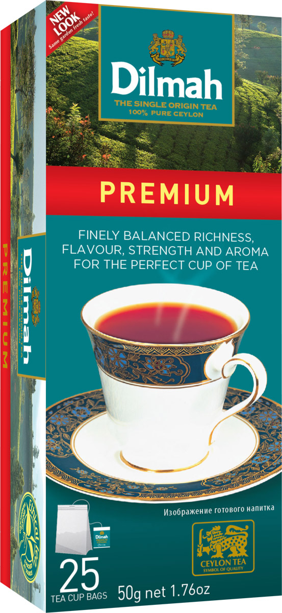 Dilmah Цейлонский черный чай в пакетиках, 25 штTB 1505-500Наслаждение свежесобранным чаем, отобранным лучшим чайным мастером Цейлона. Благородный исключительно цейлонский чай, богатый вкусом и ароматом.В упаковке 25 пакетиков по 2 грамма.Уважаемые клиенты! Обращаем ваше внимание на то, что упаковка может иметь несколько видов дизайна. Поставка осуществляется в зависимости от наличия на складе.