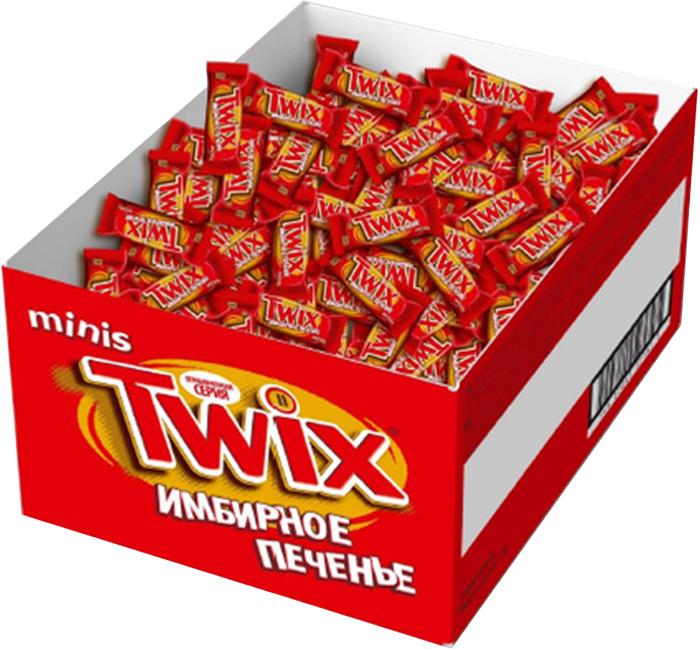 Twix Minis Имбирное печенье шоколадный батончик, 2,7 кг0120710Шоколадные батончики Twix Имбирное печенье Minis - это хрустящее печенье, густая карамель, смесь специй и великолепный молочный шоколад. Чаепитие с Твикс в компании коллег, друзей или родных - отличное способ провести свободное время. Сделай паузу - скушай Твикс.