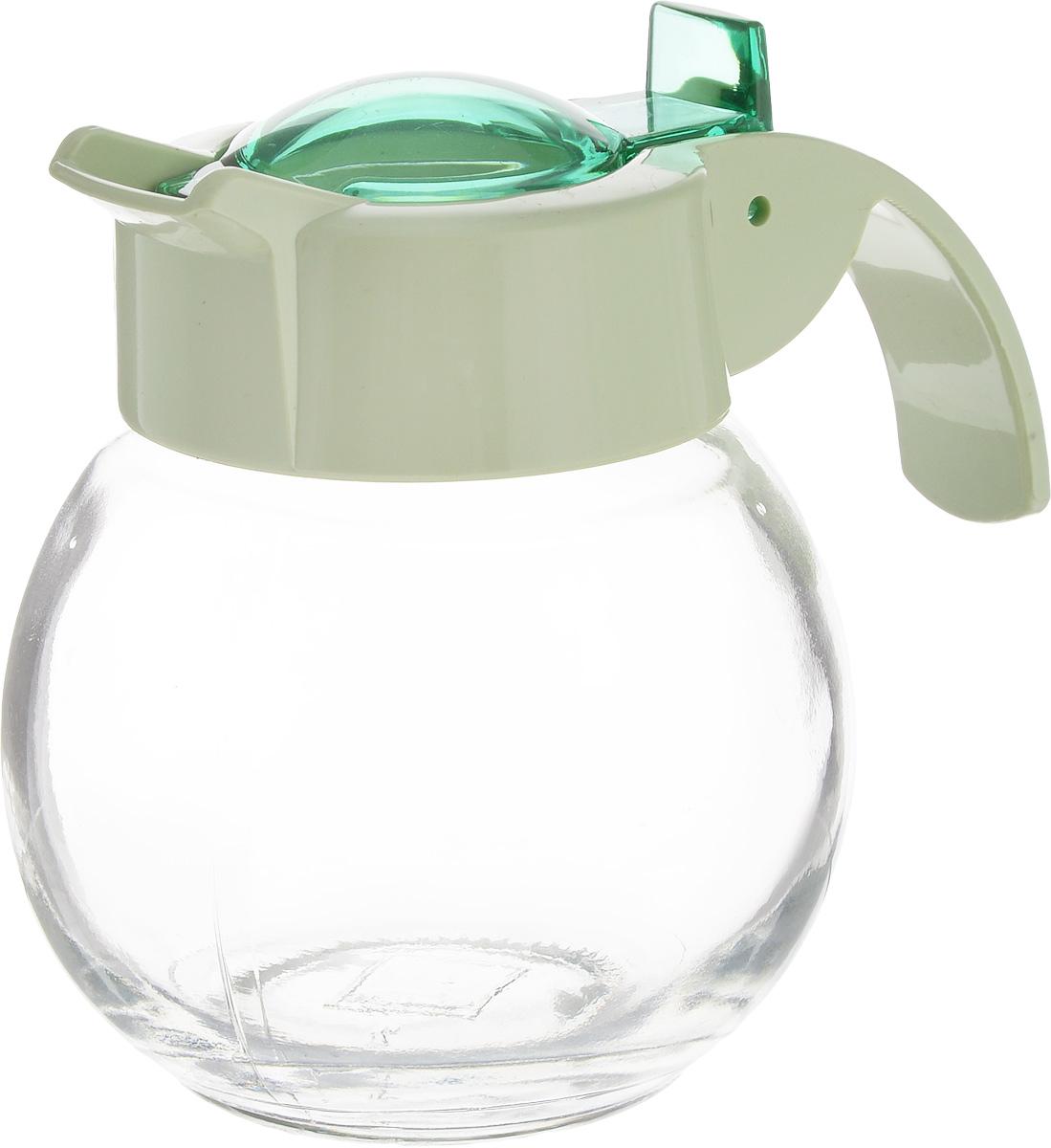 Емкость для жидкости Herevin, цвет: зеленый, прозрачный, 180 млL2430747Емкость для жидкости Herevin выполнена из качественного прочного стекла, снабжена пластиковой ручкой и откидной крышкой. Форма носика обеспечивает наливание жидкости без расплескивания. Емкость легка в использовании, стоит только перевернуть ее, и вы с легкостью сможете добавить оливковое или подсолнечное масло, уксус или соус. Крышка легко откручивается, что позволяет без труда наполнить емкость. Диаметр (по верхнему краю): 5 см.Высота емкости: 9 см.