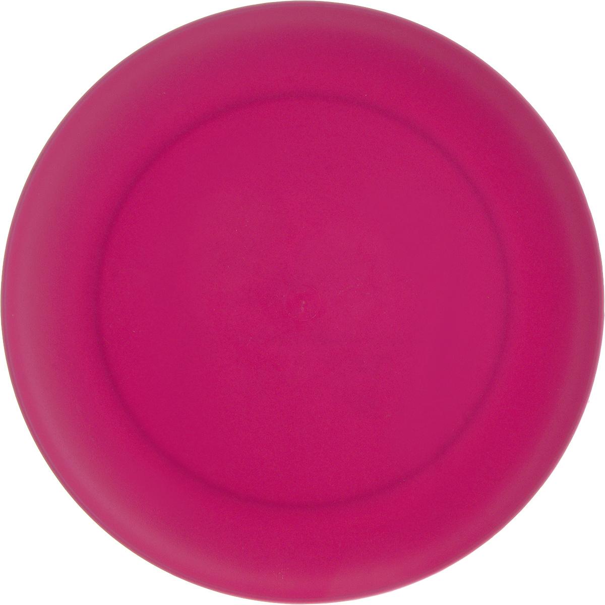 Тарелка Gotoff, цвет: малиновый, диаметр 23,5 см115510Круглая тарелка Gotoff выполнена из прочного пищевого полипропилена. Изделие отлично подойдет как для холодных, так и для горячих блюд. Его удобно использовать дома или на даче, брать с собой на пикники и в поездки. Отличный вариант для детских праздников. Такая тарелка не разобьется и будет служить вам долгое время.