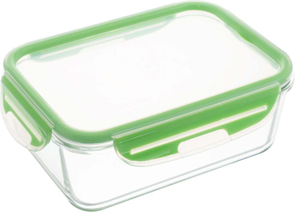 Контейнер для продуктов Herevin Fresh & Store, цвет: прозрачный, зеленый, 1,6 лFA-5125 WhiteКонтейнер для продуктов Herevin Fresh & Store изготовлен из качественного жаропрочного боросиликатного стекла без содержания BPA, которое выдерживает нагрев до 400°С. Крышка с 4 защелками плотно и герметично закрывается, поэтому продукты дольше остаются свежими. Прозрачные стенки позволяют видеть содержимое. Контейнер гигиеничный, не накапливает запахов и устойчив к воздействию масел и жиров. Такой контейнер подойдет для использования дома, его можно взять с собой на работу, учебу, в поездку. Можно использовать в микроволновой печи без крышки, в духовке, а также ставить в морозильную камеру. Можно мыть в посудомоечной машине.