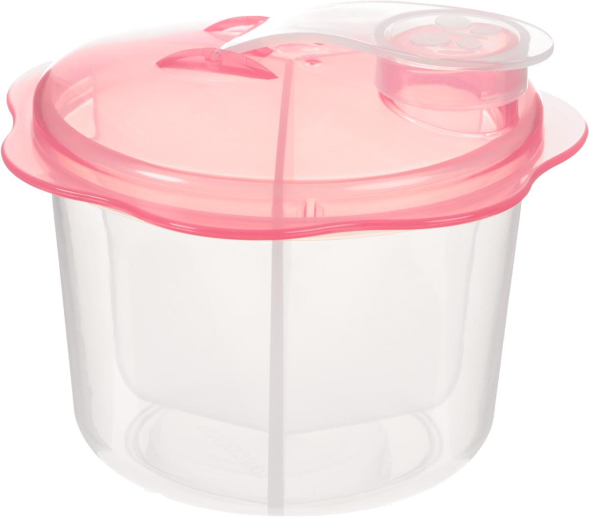 Контейнер для сухого молока Tescoma Bambini, диаметр 9 смVT-1520(SR)Контейнер Tescoma Bambini, выполненный из нетоксичного пластика, оснащен крышкой. Изделие отлично подходит для хранения и приготовления молока. Незаменим при поездках. Подходит для использования в холодильнике. Можно мыть в посудомоечной машине.Диаметр контейнера (по верхнему краю): 9 см.Высота контейнера (с учетом крышки): 9 см.