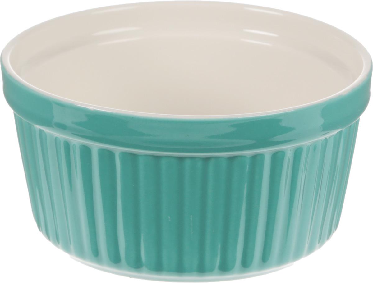 Форма для запекания Calve, круглая, цвет: бирюзовый, 250 мл54 009312Форма для запекания Calve, выполненная из жаропрочной керамики, подходит для использования в духовке. Во время процесса приготовления посуда из керамики впитывает лишнюю влагу из продукта и хранит тепло. Подходит для хранения в холодильнике и морозильной камере. Можно мыть в посудомоечной машине. Диаметр (по верхнему краю): 9,7 см. Высота: 5,5 см.Объем: 250 мл.