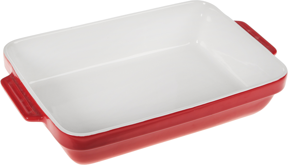 Форма для запекания Calve, прямоугольная, 38 х 23,5 х 7,5 смL137Прямоугольная форма для запекания Calve выполнена из жаропрочной глазурованной керамики и оснащена ручками. Изделие можно использовать в духовке, конвекционной и микроволновой печи, однако ее нельзя ставить на открытый огонь. Такая форма подойдет для хранения блюда в холодильнике и морозильной камере. Продукты из холодильника в ней будут оставаться холодными еще долго - это связано с медленной теплоотдачей.Внутренний формы (без учета ручек): 33 х 23,5 см. Размер формы (с учетом ручек): 38 х 23,5 см.Высота формы: 7,5 см.