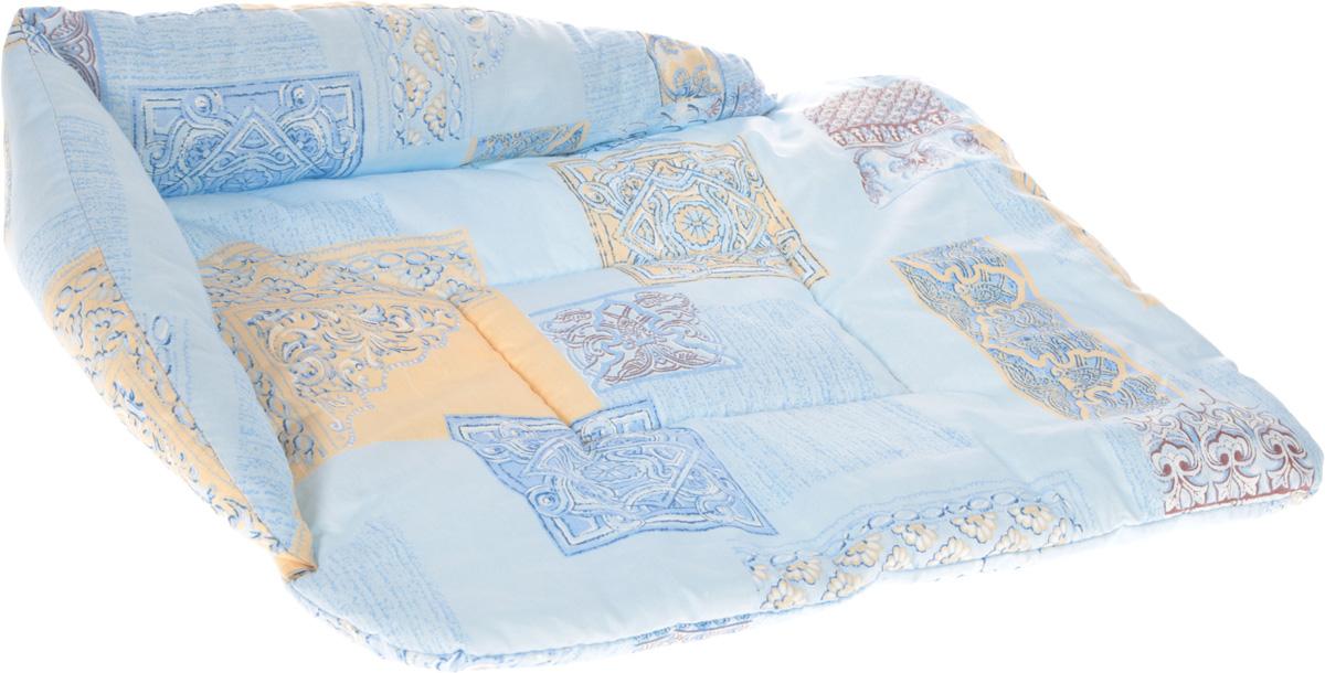 Лежак для животных Elite Valley Софа, цвет: голубой, бежевый, белый, 56 х 44 х 13 см. Л-5/30120710Лежак для животных Elite Valley Софа изготовлен из высококачественной бязи, наполнитель - холлофайбер. Он станет излюбленным местом вашего питомца, подарит ему спокойный и комфортный сон, а также убережет вашу мебель от шерсти. На таком лежаке вашему любимцу будет мягко и тепло. Яркий дизайн позволяет выглядеть привлекательным даже в период линьки.