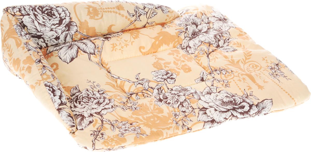 Лежак для животных Elite Valley Софа, цвет: бежевый, белый, коричневый, 56 х 44 х 13 см. Л-5/3101246Лежак для животных Elite Valley Софа изготовлен из высококачественной бязи, наполнитель - холлофайбер. Он станет излюбленным местом вашего питомца, подарит ему спокойный и комфортный сон, а также убережет вашу мебель от шерсти. На таком лежаке вашему любимцу будет мягко и тепло. Яркий дизайн позволяет выглядеть привлекательным даже в период линьки.