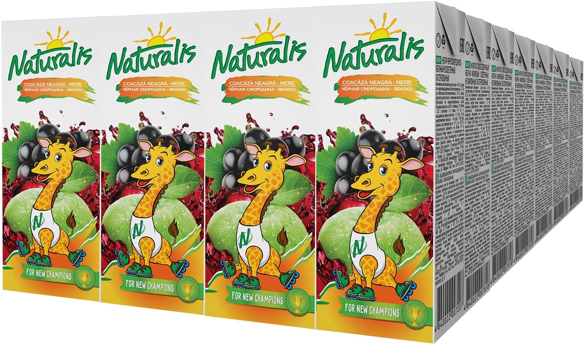 Naturalis нектар черносмородиново-яблочный неосветленный, 28 шт по 0,2 л0120710Нектар черносмородиново-яблочный Naturalis - отличное сочетание яблочной сладости и смородиновой кислинки. Черная смородина – это кладезь витаминов С и Е, которые помогают быть здоровыми и прекрасно выглядеть. Этот удивительный цвет, вкус и аромат невозможно не полюбить. Naturalis в пакете 200 мл с трубочкой - это порционная упаковка, которая понравится вашему ребенку.