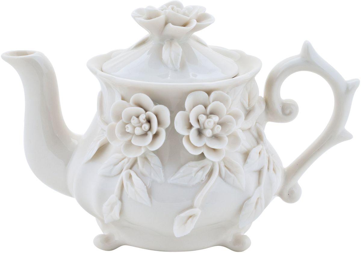 Чайник заварочный Elff Decor Italy Design, 250 мл115510Чайник из серии посуды Italy design, в которой каждый предмет выглядит невероятно нежно и изысканно. Нежные цветы и порхающие бабочки, эта роскошная коллекция - образец гармоничного дизайна в романтическом стиле. Оригинальная посуда на ножках сделает неповторимым ваш интерьер!