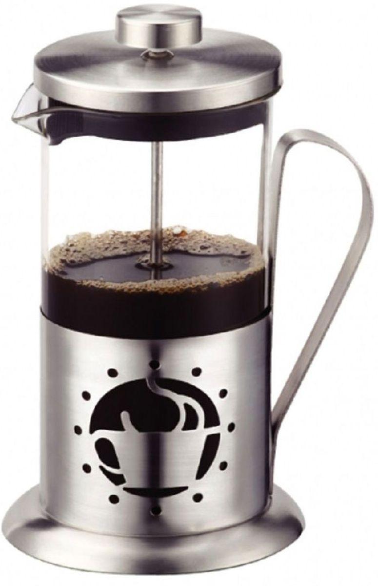Френч-пресс Elff Decor, 350 мл115510Пресс для чая и кофе Высококачественная нержавеющая сталь 18/10 Жаропрочный стеклянная колба Можно мыть в посудомоечной машине Сохраняет аромат кофе Емкость-350 мл