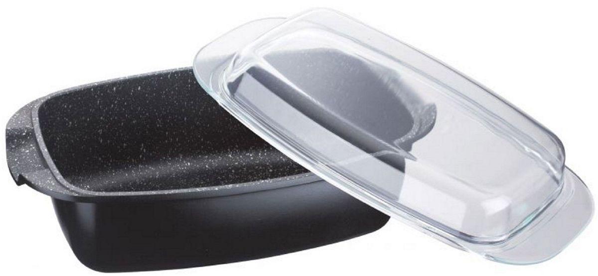 Утятница Elff Decor, с мраморным покрытием, цвет: черный, 5,3 л1400-931Литой алюминий с мраморным покрытием, прозрачная стеклянная крышка, объем утятницы 5,3л. Высота с крышкой 39см. Вес с коробкой - 2,775кг. Пригодна для использования в духовке. Пригодна для мытья в посудомоечной машине