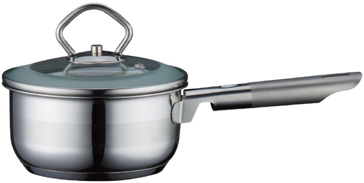 Ковш Elff Decor с крышкой, 1 л1301210Ковш Высококачественная нержавеющая сталь 18/10 3-х слойное капсульное дно равномерно распределяет тепло Стеклянная крышка Можно мыть в посудомоечной машине d.14 см., емкость-1,0 л