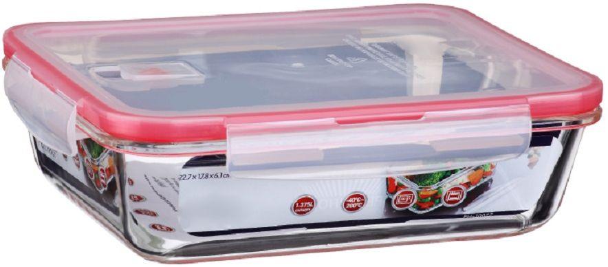 Контейнер для продуктов Elff Decor, цвет: розовый, 1,375 л115510Контейнер для хранения и запекания с вакуумной крышкой Изготовлена из жаропрочного стекла Температурный режим:-40С до 200С Размер: 22,7 х 17,8 х 6,1 см Объем-1,375 л