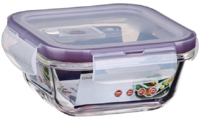 Контейнер для продуктов Elff Decor, цвет: фиолетовый, 420 мл1407-111Контейнер для хранения и запекания с вакуумной крышкой Изготовлена из жаропрочного стекла Температурный режим:-40С до 200С Размер: 12,5 х 12,5 х 5,15 см Объем-0,420 л