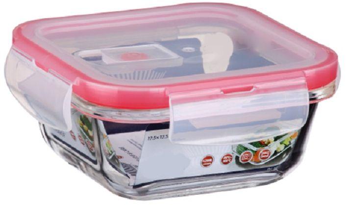 Контейнер для продуктов Elff Decor, цвет: розовый, 420 мл1407-112Контейнер для хранения и запекания с вакуумной крышкой Изготовлена из жаропрочного стекла Температурный режим:-40С до 200С Размер: 12,5 х 12,5 х 5,15 см Объем-0,420 л