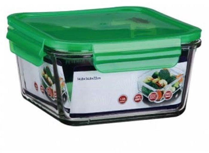 Контейнер для продуктов Elff Decor, цвет: зеленый, 400 мл1407-131Контейнер для хранения и запекания с герметичной крышкой Изготовлена из жаропрочного стекла Температурный режим:-40С до 200С Размер: 11,5 х 11,5 х 5,7 см Объем-0,4 л