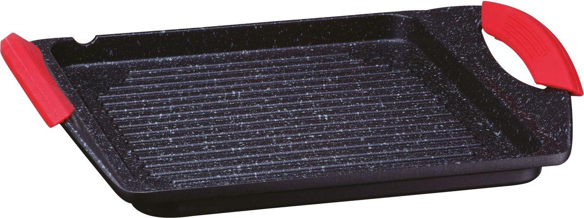 Сковорода-гриль Elff Decor, прямоугольная, с гранитным покрытием, 25,7 x 25,7 см1407-250Сковорода-гриль Алюминиевая сковорода с гранитным покрытием и слив Гранитное покрытие-черного цвета:с белыми вкраплениями Боковые литые ручки с силиконовыми накладками. Подходит ко всем типам плит, включая индукционной плиты. Полное отсутствие пригорания пищи Экологическая чистота, долговечность Размер поверхности для жарки-25,7x25,7x2,5см Размер изделия-34x26,5x5,5см