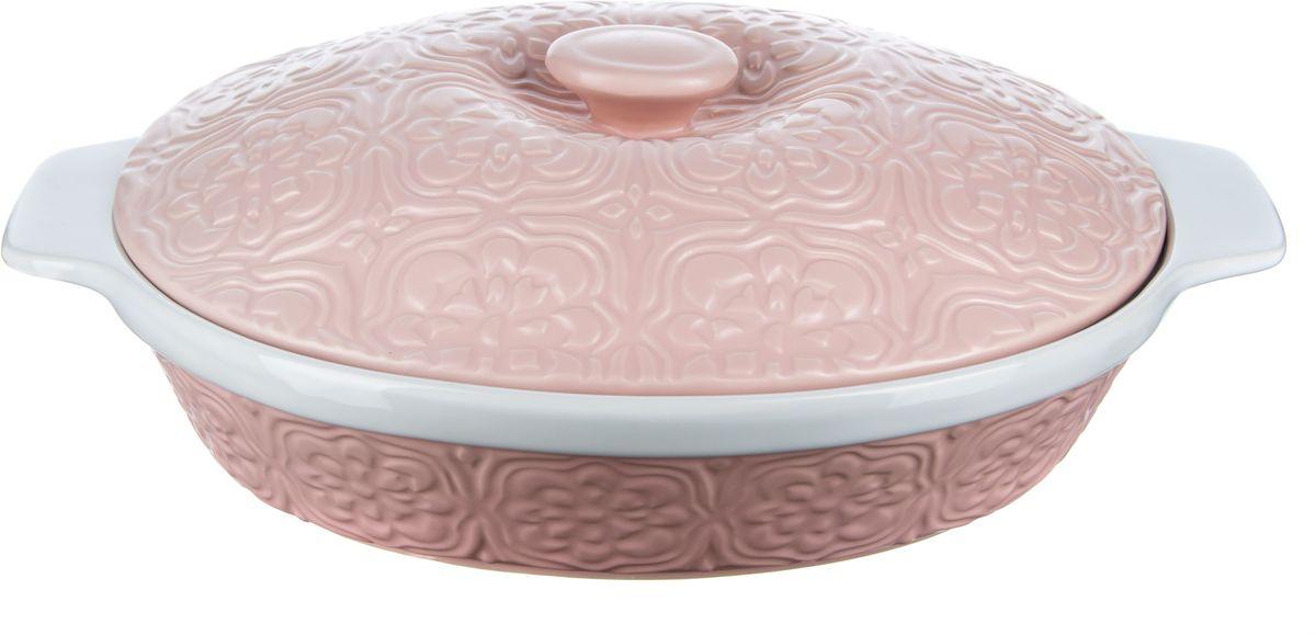 Форма для запекания Elff Decor с крышкой, овальная, цвет: розовый, 2,2 л94672Форма для запекания с крышкой Изготовлена из жаропрочной керамики Размер: 23,5 см х 29,5 см х 7,5 см Объем-2,2 л