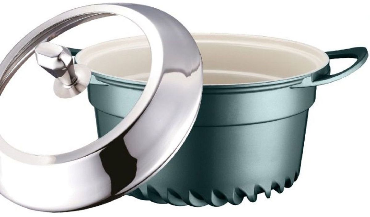 Кастрюля Elff Decor с крышкой, цвет: зеленый, 2,5 лFS-80418Кастрюля изготовлена из алюминия Внутреннее покрытие - стойкая керамика Не нагревающие ручки Стеклянная крышка с элементами из нержавеющей стали Подходит для всех видов плит, кроме индукции Пригодна для мытья в посудомоечной машине. d.20х10 см Ёмкость 2,5 л.