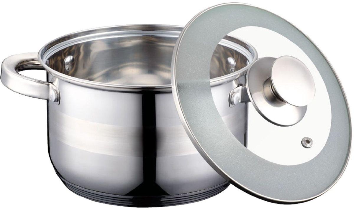 Кастрюля Elff Decor с крышкой, 2,1 л94672Кастрюля Высококачественная нержавеющая сталь 18/10 5-х слойное капсульное дно равномерно распределяет тепло Стеклянная крышка Можно мыть в посудомоечной машине d.16х10,5 см., емкость - 2,1 л