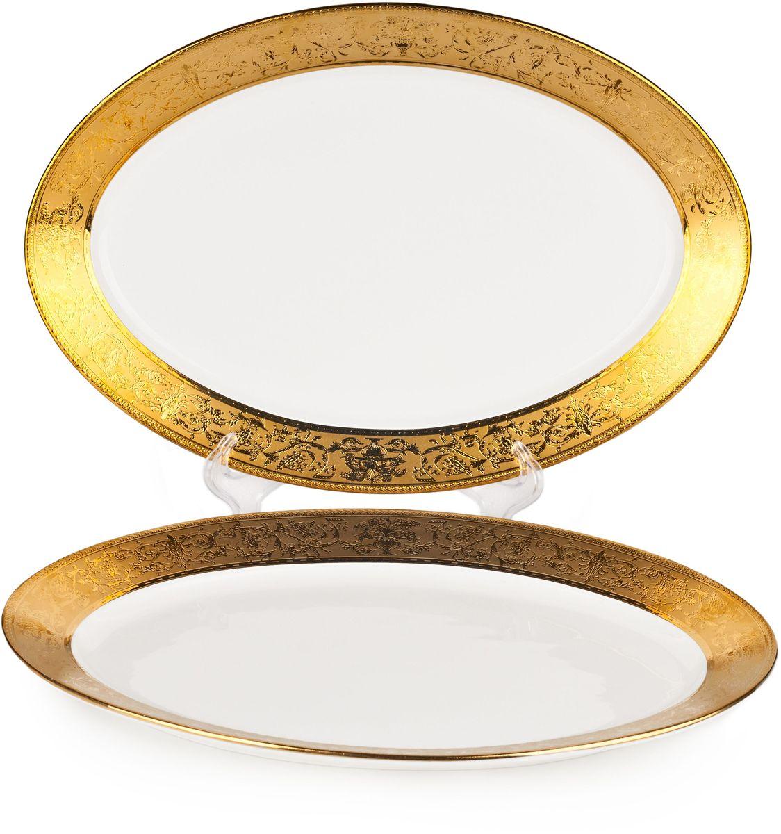 Блюдо Elff Decor Английский завтрак, диаметр 37 см115510Блюда идеальны для сервировки стола и декора интерьера