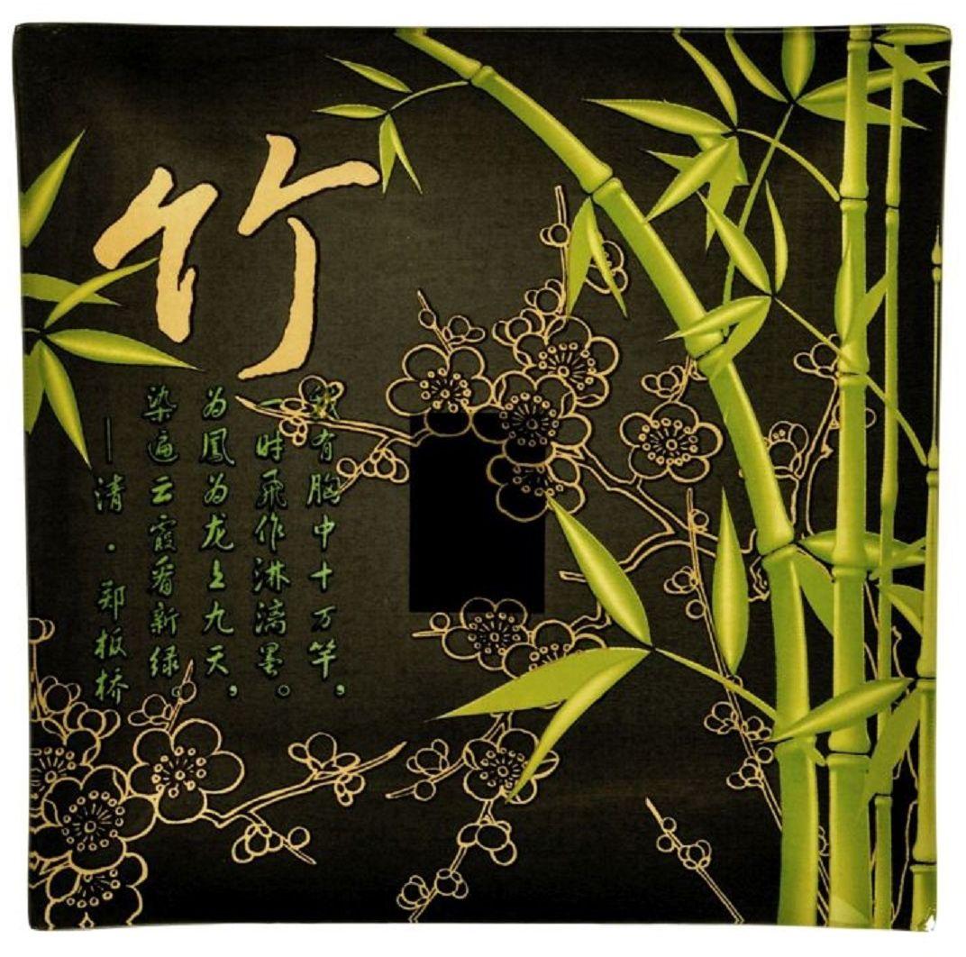 Тарелка Elff Decor Бамбуковый лес, 20 х 20 см115510Тарелка из стекла, украшенная оригинальным орнаментом, наполнит пространство нежностью и романтикой. Яркое цветное блюдо, стоящее на подставке или на полке, послужит оригинальным украшением интерьера, создаст атмосферу уюта в доме.
