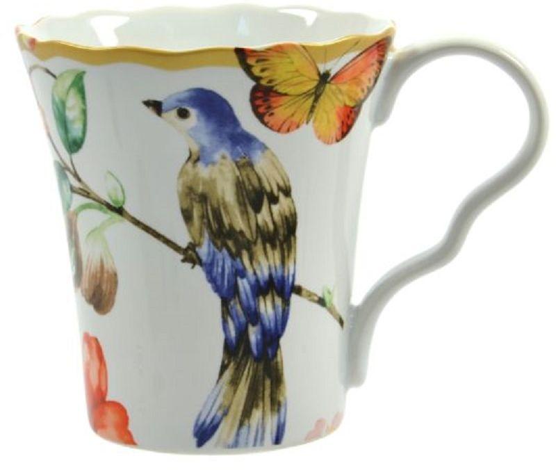 Кружка Elff Decor Дивная птица, 35 0мл115510Кружка из серии посуды DELI превратит ваше чаепитие в утончённую трапезу и позволит вам вдохнуть атмосферу загадочного неповторимого Востока.