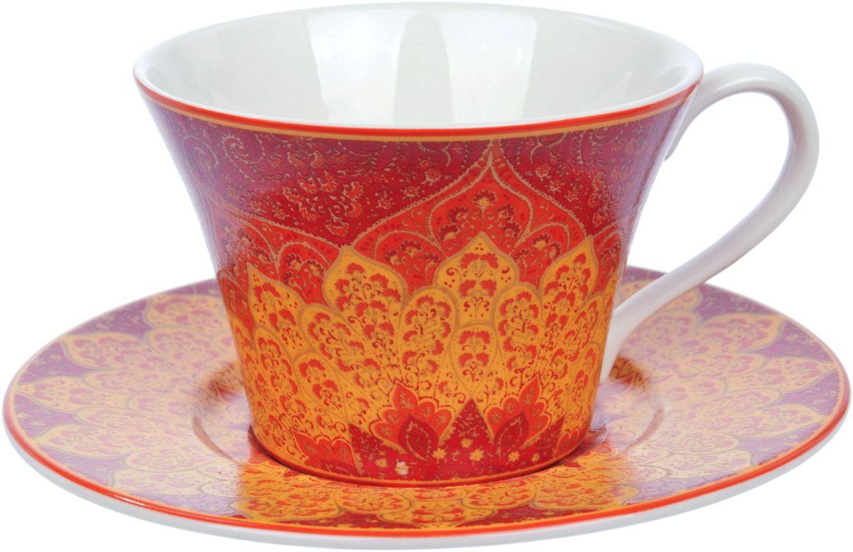 Чайная пара Elff Decor Гуджарат, 250 мл, 2 предмета115510Чашка с блюдцем из серии посуды DELI превратит ваше чаепитие в утончённую трапезу и позволит вам вдохнуть атмосферу загадочного неповторимого Востока.