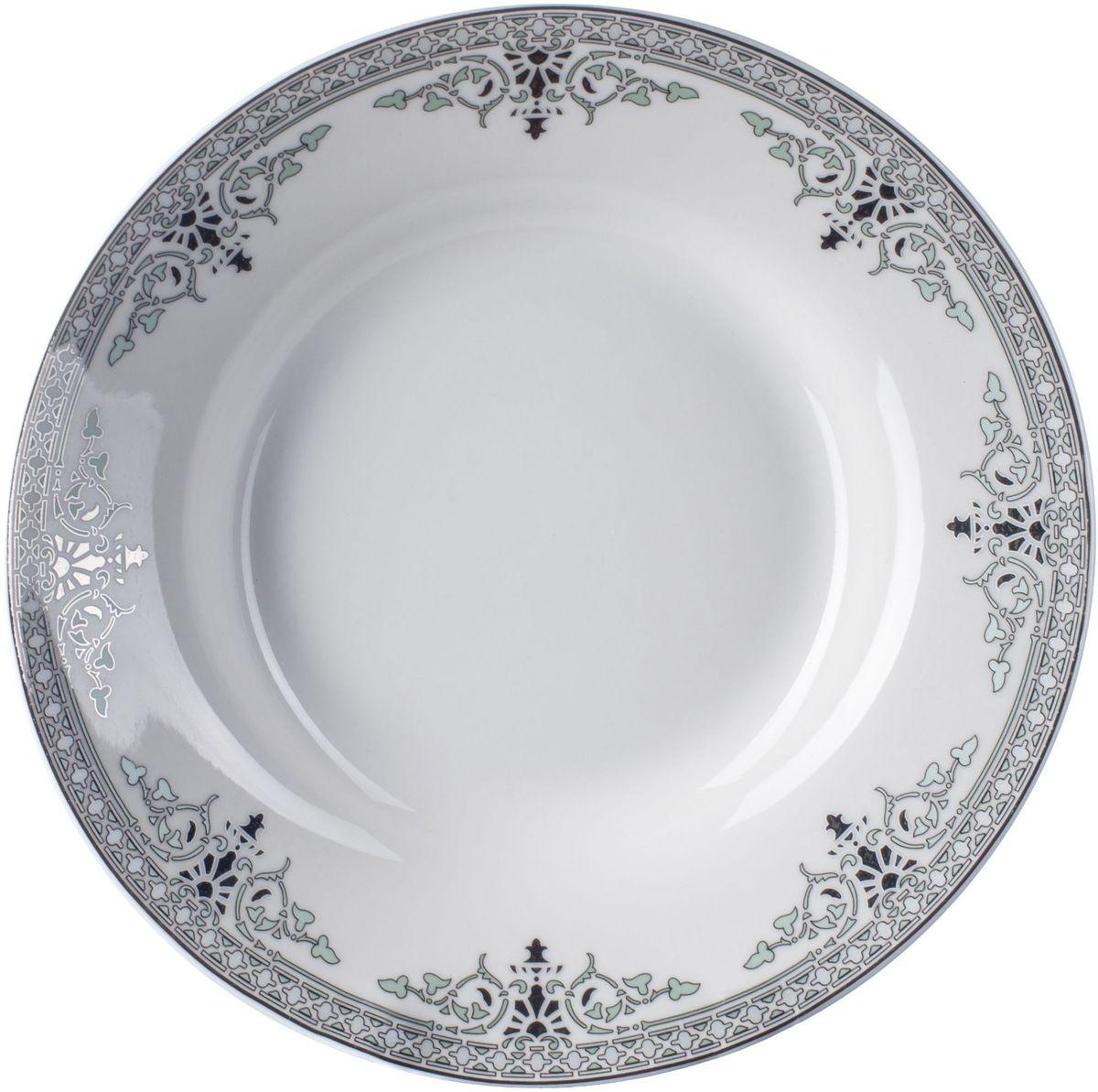 Тарелка суповая Elff Decor Вирджиния, диаметр 21 см115510Тарелки предназначены для сервировки стола и декора интерьера,идеальна для подачи первого.