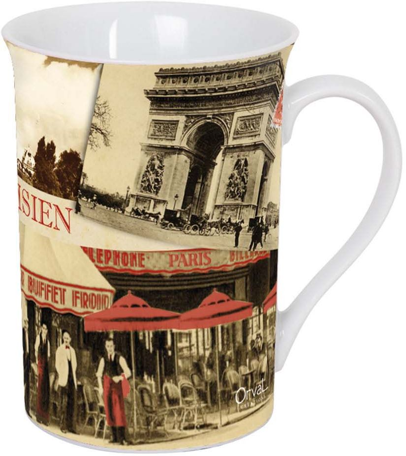 Кружка ORVAL Парижское бистро, 270 мл115510Кружка украсит Ваш ежедневный завтрак или чашку чая или кофе Изящное дополнение к своей столовой посуде