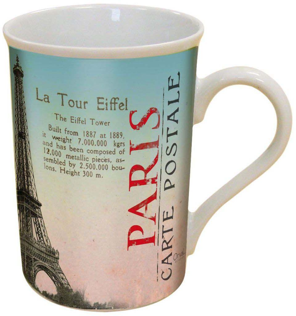 Кружка ORVAL Здравствуй, Париж, 270 мл115510Кружка украсит Ваш ежедневный завтрак или чашку чая или кофе Изящное дополнение к своей столовой посуде
