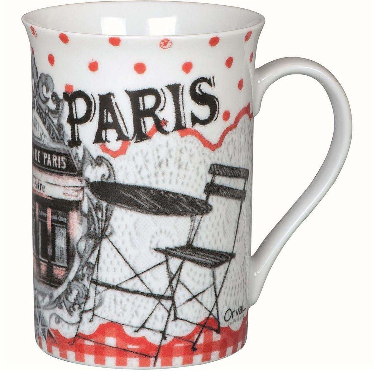 Кружка ORVAL Бистро де Пари, 270 мл115510Кружка украсит Ваш ежедневный завтрак или чашку чая или кофе Изящное дополнение к своей столовой посуде