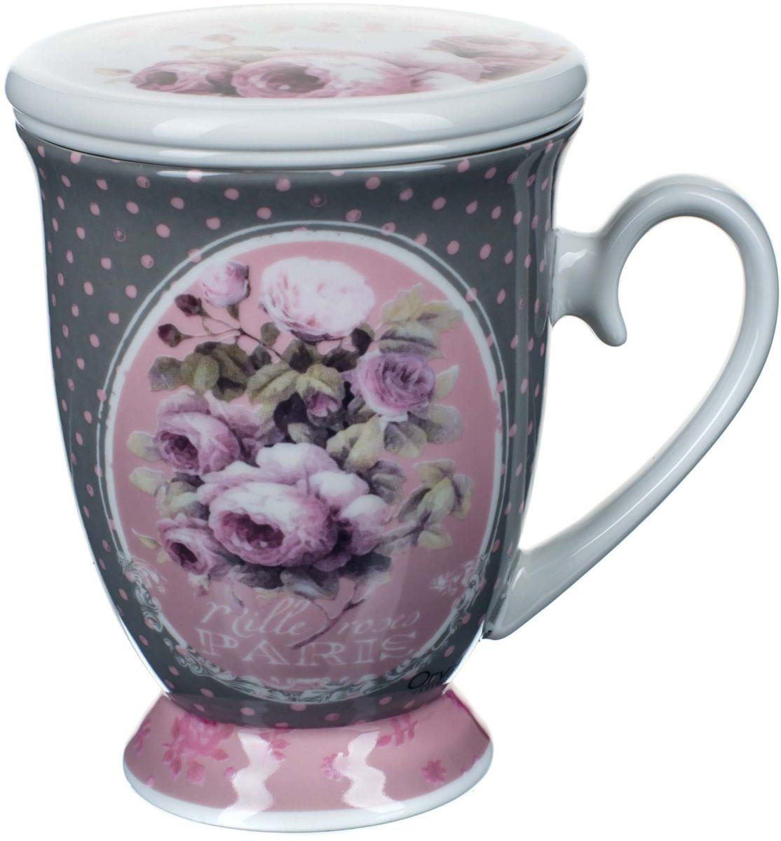 Кружка заварочная ORVAL Тысяча роз Парижа, с фильтром, 2 предметаVT-1520(SR)Для экономии времени была придумана заварочная кружка, с помощью которой можно удобно и быстро заварить чай. Она позволяет совмещать удобство и комфорт с полезностью и качеством.