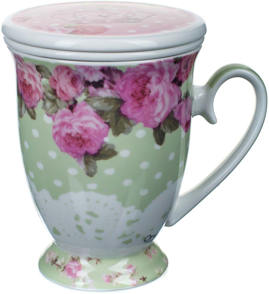 Кружка заварочная ORVAL Чайная королева, с фильтром, 2 предмета115510Для экономии времени была придумана заварочная кружка, с помощью которой можно удобно и быстро заварить чай. Она позволяет совмещать удобство и комфорт с полезностью и качеством.