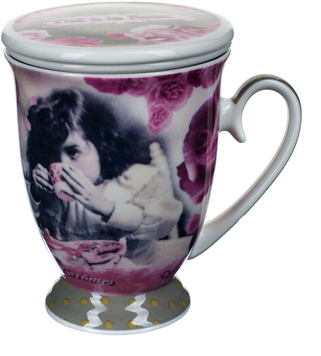 Кружка заварочная ORVAL Чай с розами, с фильтром, 2 предмета115510Для экономии времени была придумана заварочная кружка, с помощью которой можно удобно и быстро заварить чай. Она позволяет совмещать удобство и комфорт с полезностью и качеством.