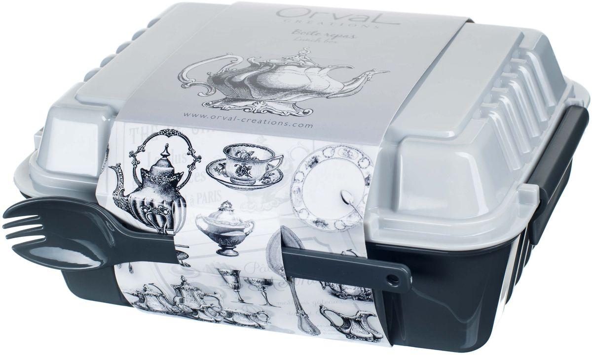 Ланч-бокс Винтаж, 960 мл115510Ланч-бокс предназначен для завтраков, обедов, полдников, печенья, фруктов и прочих закусок.