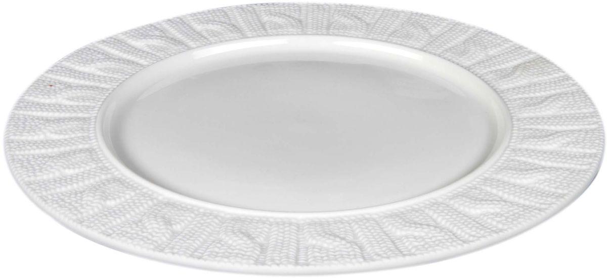 Тарелка Elff Decor, диаметр 26 см115510Тарелка порадует глаз истиных любителей белой классики воздушностью форм , многообразием оттенков и оригинальностью исполнения. Отлично смотрится как в наборах, так и отдельными предметами для украшения интерьера .