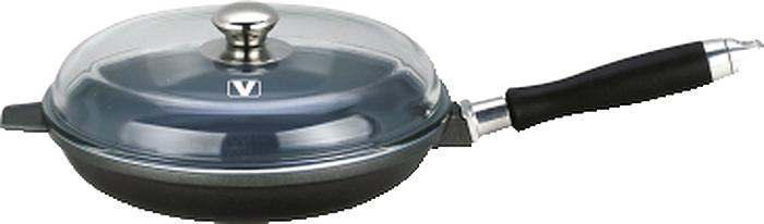 Сковорода Vitesse Le Prestige с крышкой, с керамическим покрытием, со съемной ручкой, цвет: серый. Диаметр 26 смRDA-537Сковорода Vitesse Le Prestige изготовлена из высококачественного алюминия методом литья под давлением. Внутреннее керамическое покрытие Eco-Cera, позволяющее готовить при высоких температурах, не оставляет послевкусия, делает возможным приготовление блюд без масла, сохраняет витамины и питательные вещества. Оно устойчиво к царапинам и механическим повреждениям. Покрытие безопасно для человека, не содержит PFOA.Внешняя поверхность сковороды отделана элегантным цветным покрытием, подвергшимся высокотемпературной обработке. Дно сковороды снабжено антидеформационным индукционным диском. Сковорода быстро разогревается, распределяя тепло по всей поверхности, что позволяет готовить в энергосберегающем режиме, значительно сокращая время, проведенное у плиты.Сковорода оснащена съемной ручкой из бакелита с покрытием Soft-touch.Крышка из термостойкого стекла позволит следить за процессом приготовления пищи без потери тепла. Она плотно прилегает к краям сковороды, сохраняя аромат блюд. Сковорода Vitesse Le Prestige подходит для использования на всех типах кухонных плит, включая индукционные. Можно мыть в посудомоечной машине.Характеристики:Материал: литой алюминий, бакелит, нержавеющая сталь 18/10, стекло. Цвет: серый. Внутренний диаметр сковороды: 26 см. Высота стенки сковороды: 5 см. Толщина стенки: 3 мм. Толщина дна: 1 см. Длина ручки: 21 см. Диаметр индукционного диска: 18,5 см.Кухонная посуда марки Vitesse из нержавеющей стали 18/10 предоставит вам все необходимое для получения удовольствия от приготовления пищи и принесет радость от его результатов. Посуда Vitesse обладает выдающимися функциональными свойствами. Легкие в уходе кастрюли и сковородки имеют плотно закрывающиеся крышки, которые дают возможность готовить с малым количеством воды и экономией энергии, и идеально подходят для всех видов плит: газовых, электрических, стеклокерамических и индукцион