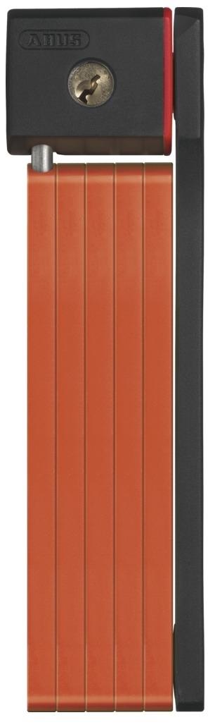 Велозамок Abus Bordo uGrip 5700/80, с ключами, цвет: оранжевый112799_ABUSНадежный сегментный замок Abus Bordo uGrip объединяет лучшие качества U-замков и цепей - надежность и гибкость. Стальные пластины соединены шарнирами и двигаются относительно друг друга. Достаточная длина для крепления к неподвижному объекту, а также нескольких велосипедов между собой.5-мм стальные пластины соединены шарнирами и движутся относительно друг друга.Замок компактно складывается для удобной транспортировки в чехле на раме.Чехол в комплекте.Ккрепление.Вес: 830 г.Длина: 80 см.Толщина: 5 мм.Тип замка: Английский односторонний.Количество ключей в комплекте: 2 шт.