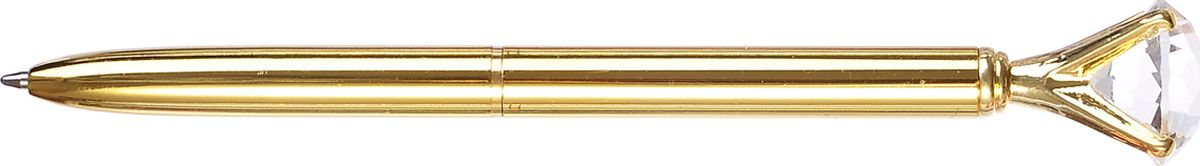 Mazari Ручка шариковая Desire цвет золотой634791Ручка шариковая Mazari Desire с поворотным механизмом, имеет пулевидный пишущий узел 1.0 мм, корпус металлический с кристаллом.