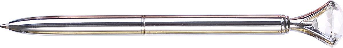 Mazari Ручка шариковая Desire цвет серебристыйPK118-LWРучка шариковая с поворотным механизмом DESIRE, СИНЯЯ, пулевидный пишущий узел 1.0 мм, корпус металлический с кристаллом, подарочная упаковка