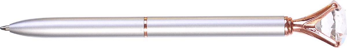 Mazari Ручка шариковая Desire цвет серый металлик72523WDРучка шариковая с поворотным механизмом DESIRE, СИНЯЯ, пулевидный пишущий узел 1.0 мм, корпус металлический с кристаллом, подарочная упаковка